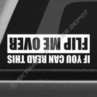 Flip Me Over Funny Bumper Sticker Vinyl Decal Truck SUV Off Road Decal fit Jeep