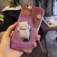 3D Squishy Sleeping Cat Phone Case