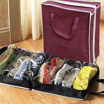 Portable Waterproof Folding Shoe Bags Travel Accessory Organizer