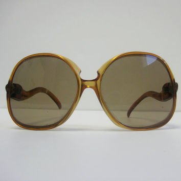 Vintage Oversized Sunglasses / 1970s Sunglasses