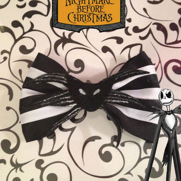 Jack Skellington Tim Burton's Nightmare Before Christmas inspired bow