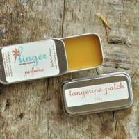 Solid Perfume Tin - Tangerine Patchouli - Organic - Essential Oils Natural