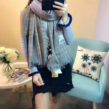 Best Online Sale Burberry Keep Warm Scarf Embroidery Scarves Winter Wool Shawl