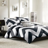 Mi Zone Pisces Comforter Set (Black)