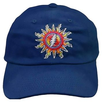 Grateful Dead Sunshine Daydream Blue Embroidered Baseball Cap
