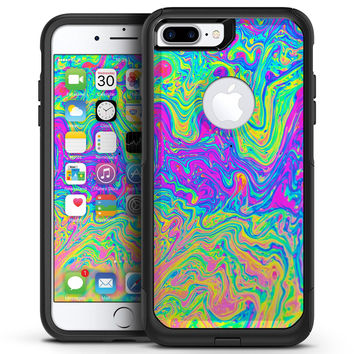 Neon Color Swirls V2 - iPhone 7 or 7 Plus Commuter Case Skin Kit