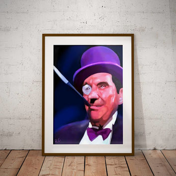 The Penguin Burgess Meredith Batman Dc Comics Retro Vintage Pop Culture Criminal Wall Art Print