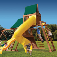 Playground One Original Playcenter with Monkey Bars, Sky Loft and Tube Slide