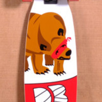 "DB 37.5"" RED BEAR LONGBOARD COMPLETE"