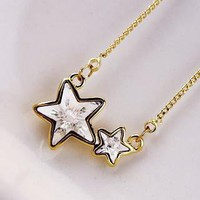YESSTYLE: Cuteberry- Beaded Star Necklace (White - One Size)