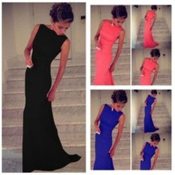 ca DCCKTM4 European sexy party dresses Womens Prom Ball Cocktail Long Dress Slim Maxi Formal Evening Gown [8384273543]