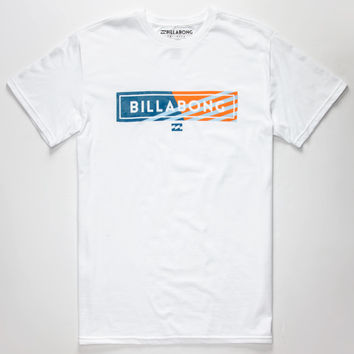 Billabong Blocked Mens T-Shirt White  In Sizes
