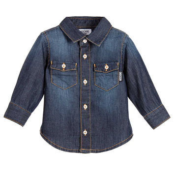 Moschino Baby Boys Denim Teddy Shirt