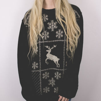 Vintage Reindeer Winter Nordic Christmas Sweater
