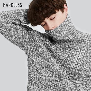 Winter Turtleneck Christmas Sweater Men Clothing Fashion Casual Thick Warm Knitted Sweater Men Pullovers