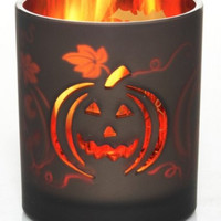 Yankee Candle Holloween Votive Holder Flicker Pumpkin