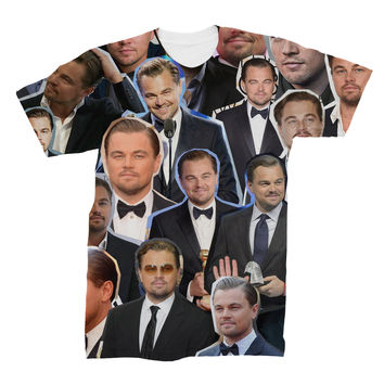 Leonardo Dicaprio Photo Collage T-shirt