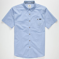 Rusty Sonar Mens Shirt Blue  In Sizes
