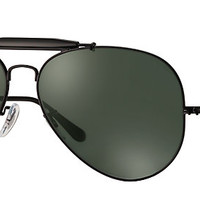 Ray-Ban RB3029 L2114 62-14 OUTDOORSMAN II Black sunglasses | Official Online Store US