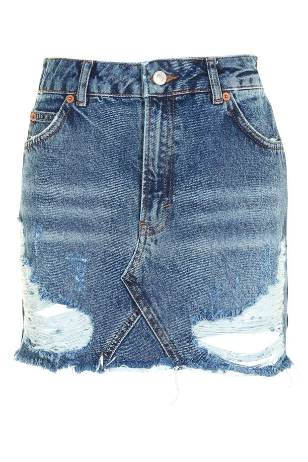 Bdg Womens Light Wash Blue Distressed A Line Denim Jean Skirt Blue Small Aromatic Flavor Women's Clothing