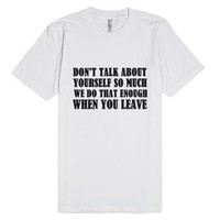 Bye Then-Unisex White T-Shirt