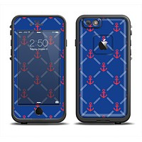 The Red & Blue Seamless Anchor Pattern Apple iPhone 6 LifeProof Fre Case Skin Set