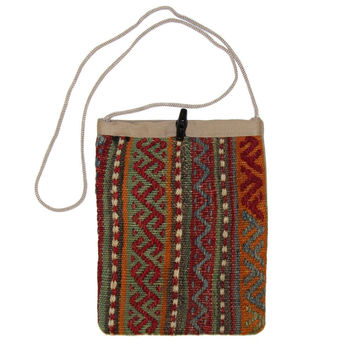 Gwenn Multi Liva Pattern Kilim Bag