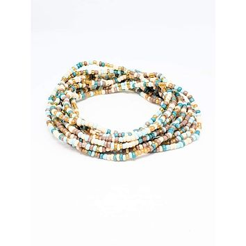 Desert Layered Long Beaded Bracelet