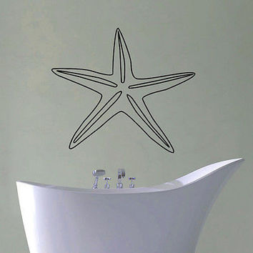 WALL DECAL VINYL STICKER ANIMAL STARFISH OCEAN SEA DECOR SB448
