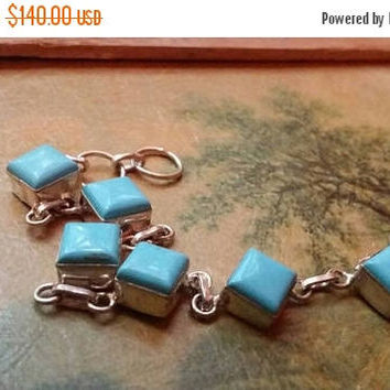 80%OFF SUMMER SALE Turquoise Bracelet Gemstone  .925 Sterling  Silver