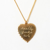 The Reformation :: ACCESSORIES :: IN GOD WE TRUST REALLY FUCKIN CUTE NECKLACE