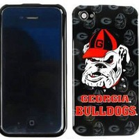 Georgia Bulldogs Mascot NCAA iPhone 4 4S Case Snap On Cover Faceplate Protector