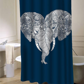 elephant punch trunk love shower curtain from payunan.com | Room