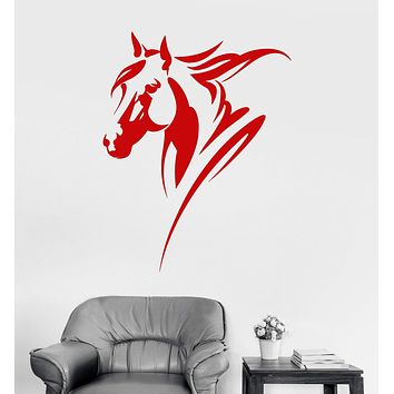 Vinyl Wall Decal Horse Head Animal House Interior Room Stickers Unique Gift (ig4122)