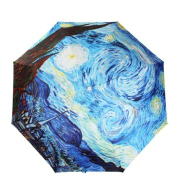 Starry Night Folding Umbrella