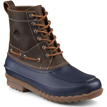 Men's Decoy Duck Boot in Dark Tan and Navy by Sperry