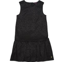 Pitch Black Mini Leopard Jacquard Dress by Juicy Couture,