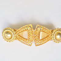 Handmade Barrette Hair Accessory Wedding Bridal Party Gift for Her Restyled Vintage Assembllage