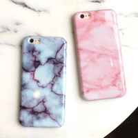 Unique Pink Marble iPhone 5s 5se 6 6s Plus Case iPhone 7 7Plus Cases + Free Gift Box + Free Shipping