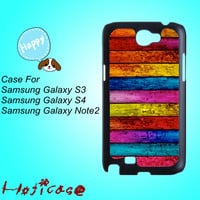 Colorful Wood--Samsung S3 case,Samsung S4 case,Samsung note 2 case,cute Samsung S4 case,pretty Samsung S4 case, cool Samsung galaxy S4 case.