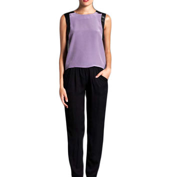 Karina Grimaldi Julietta Solid Top in Lavender