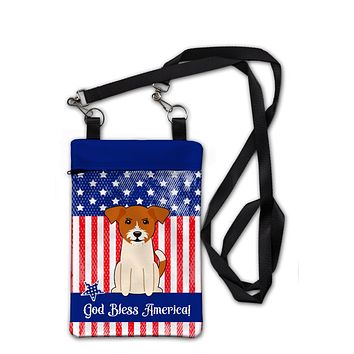 Patriotic USA Jack Russell Terrier Crossbody Bag Purse BB3103OBDY