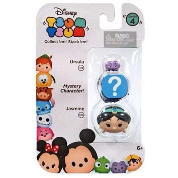 Ursula and Jasmine Disney Tsum Tsum Series 4 Minifigure 3-Pack