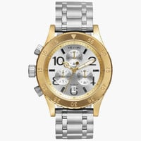 Nixon 38-20 Chrono Watch Gold/Silver One Size For Men 25939162101