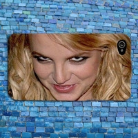 Funny Scary Creeper Face Britney Spears iPhone Case Cute Artist iPhone Case Cool Cover iPhone 4 iPhone 5 iPhone 4s iPhone 5s iPhone 5c Case