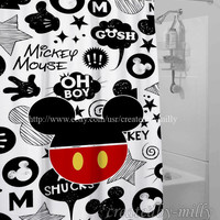 Mickey Mouse New Luxury Design High Quality Shower Curtain 60 x 72 Inch