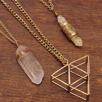 Urban Myth Triangle Necklace Set