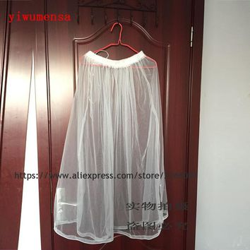 Free Shipping Gather Skirt Slip Ivory Petticoat Underskirt Save Your Dress From Toilet Water Wedding Accessories 2018
