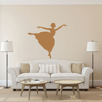 kik1585 Wall Decal Sticker ballerina dance lounge children's bedroom