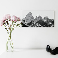 Photographic illustration collage on Alu-Dibond - mountain landscape